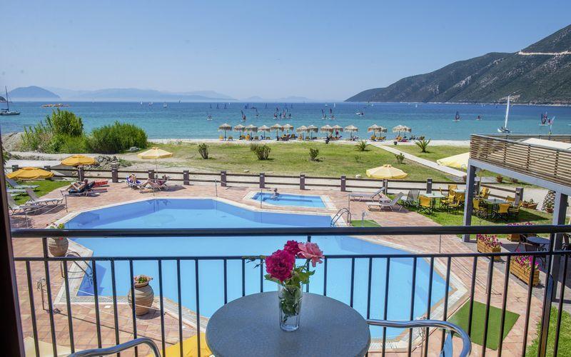 Hotel Sunwaves i Vassiliki på Lefkas.