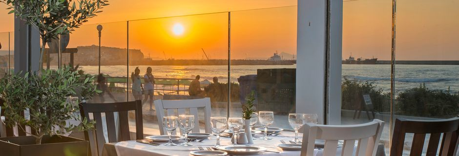 Restaurant på Hotel Swell Boutique Hotel på Kreta, Grækenland.