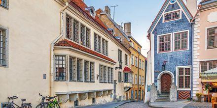 Smukke huse i Tallinns gamle bydel
