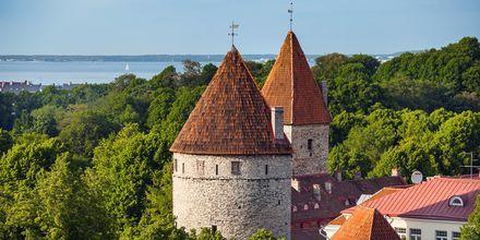 Middelalderlige tårne i Tallinn i Estland