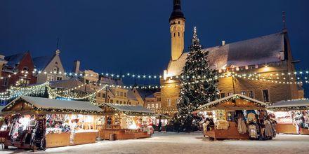 Julemarked i Tallinn i Estland.