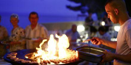 BBQ på Restaurant på hotel Tamaris i Tucepi på Markaska riviera