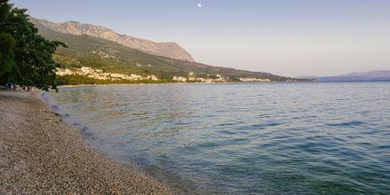 Strand ved hotel Tamaris i Tucepi på Markaska riviera