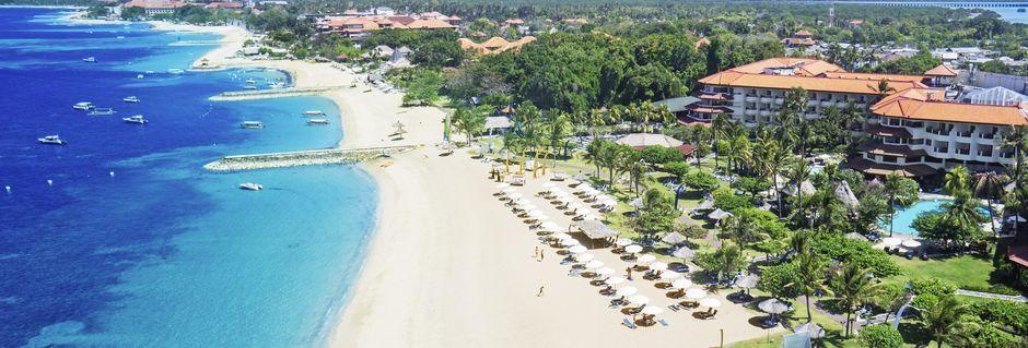 Stranden nedenfor hotel Grand Mirage Resort.