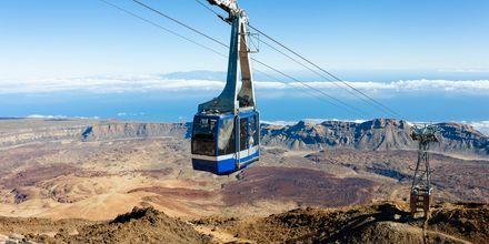 Svævebane op til Teide på Tenerife, De Kanariske Øer.