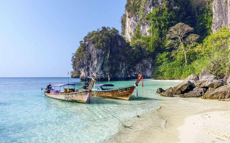 Smuk strand i Thailand.