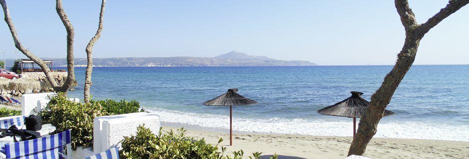 Stranden ved Thamirakis Studios på Kreta, Grækenland.