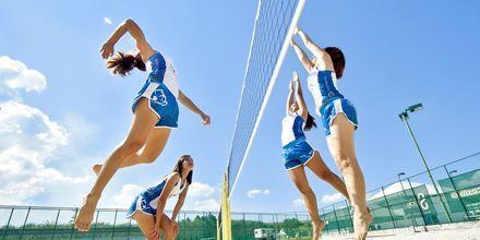 Beach volley på Thanyapura Sport & Health Resort på Phuket i Thailand.