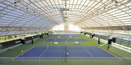 Tennisbaner på Thanyapura Sport & Health Resort på Phuket i Thailand.