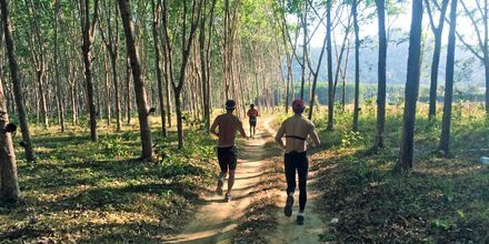 Løbetræning på Thanyapura Sport & Health Resort på Phuket i Thailand.