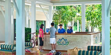 Aktivitetsdisk på Thanyapura Sport & Health Resort på Phuket i Thailand.