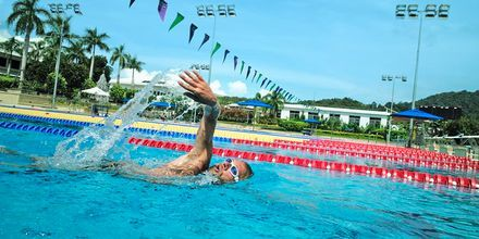 Olympisk pool på Thanyapura Sport & Health Resort på Phuket i Thailand.