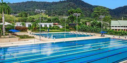 Sports-pools på Thanyapura Sport & Health Resort på Phuket i Thailand.