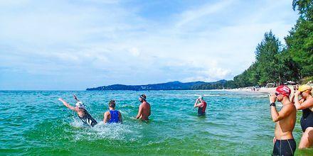 Open water træning på Thanyapura Sport & Health Resort på Phuket i Thailand.