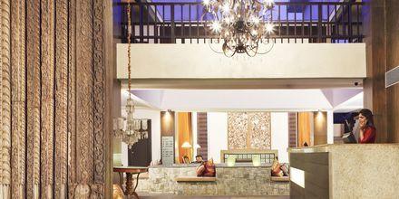 Receptionen på The O Hotel, Goa, Indien