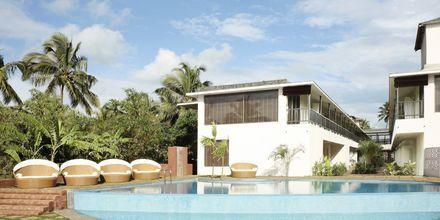 Poolområdet på The O Hotel Goa, Indien
