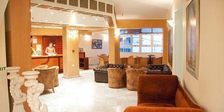 Reception på Hotel Theo på Kreta, Grækenland.