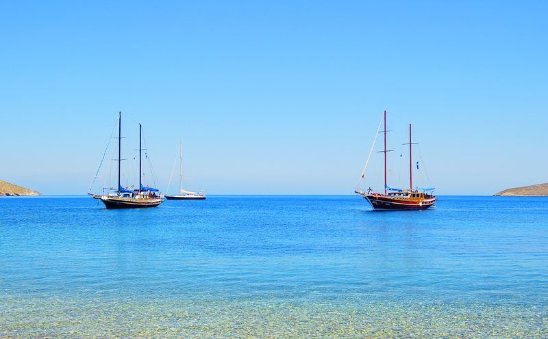 Stranden på Tilos, Grækenland.
