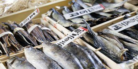 Tokyo Fish Market i Tokyo Japan er en populær seværdighed.