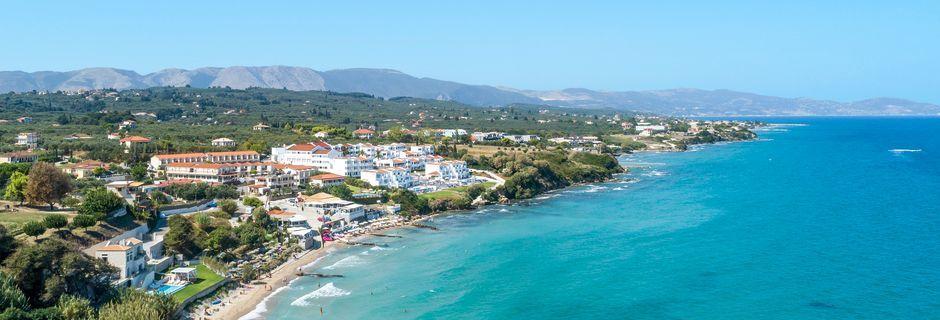 Strand ved Tragaki på Zakynthos, Grækenland.