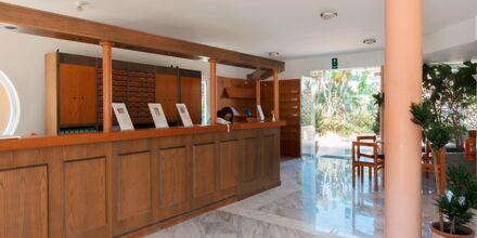 Reception på Hotel Triton på Kreta, Grækenland.