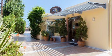 Indgang til Hotel Triton på Kreta, Grækenland.