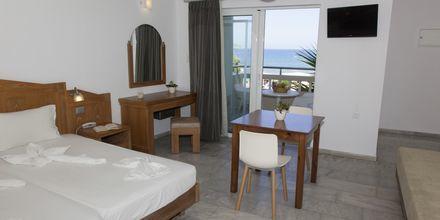 1-værelses lejlighed med havudsigt på Hotel Tropicana på Kreta, Grækenland.