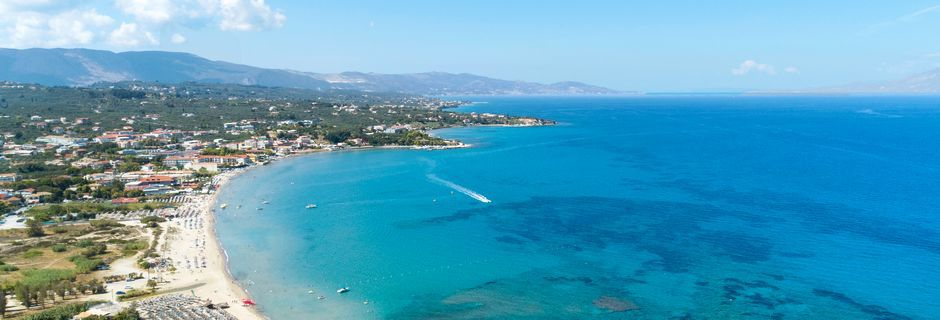 Stranden i Tsilivi på Zakynthos, Grækenland