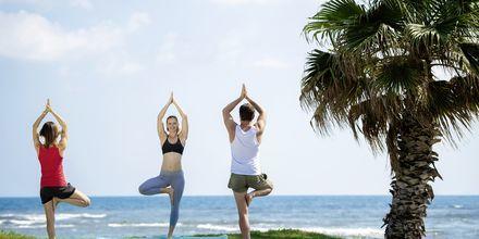 Yoga på hotel Turquoise Resort Hotel & Spa i Side, Tyrkiet.