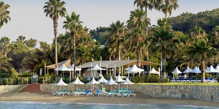 Stranden ved Turquoise Resort Hotel & Spa i Side, Tyrkiet.