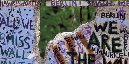 Rester af Berlinermuren, Tyskland.