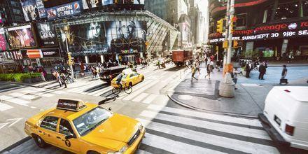 Der er altid liv på Times Square, New York.