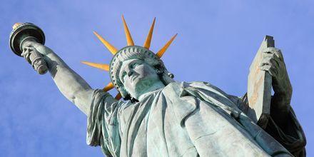 Frihedsgudinden er et must at se, hvis du kommer til New York, USA.