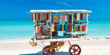 Strandsælger i Varadero, Cuba.