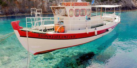 Krystalklart vand på Zakynthos, Grækenland.