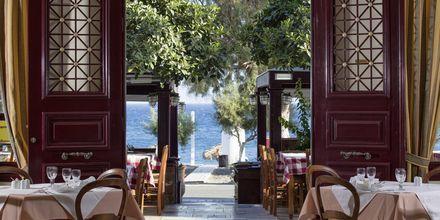 Restaurant på hotel Veggera på Santorini.