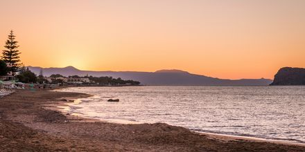 Stranden ved Hotel Veli i Kato Stalos på Kreta, Grekland.