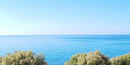 Udsigt fra Hotel Veronica Beach i Votsalakia på Samos, Grækenland.
