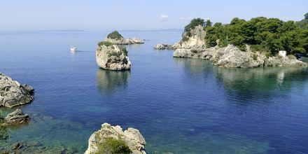 Udsigt mod havet fra Villa Rossa Area Boutique Beach Resort i Parga, Grækenland.