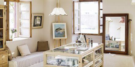 Lobby på Villa Rossa Area Boutique Beach Resort i Parga, Grækenland.