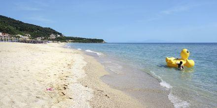 Stranden i Vrachos i Grækenland.