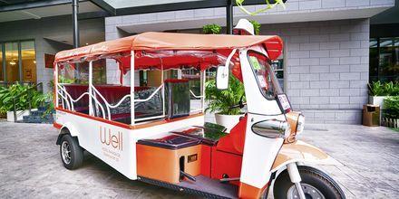 Shuttlebus på hotel Well i Bangkok, Thailand.