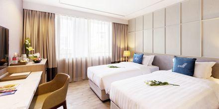 Deluxe-værelse på hotel Well i Bangkok, Thailand.