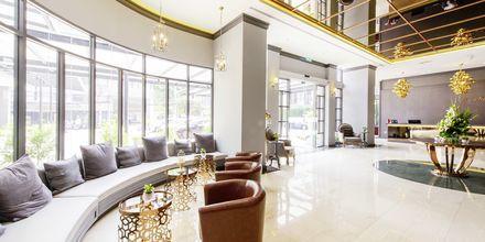 Lobby på hotel Well i Bangkok, Thailand.