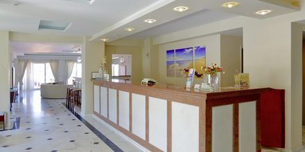 Reception på hotel Windmill i Argassi, Zakynthos.