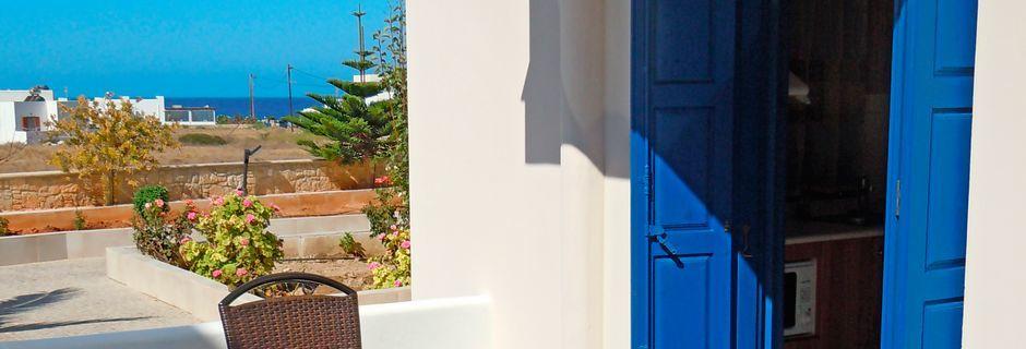 Hotel Yallos i Lefkos på Karpathos, Grækenland.