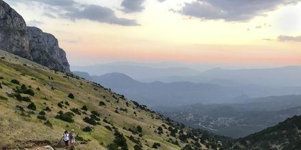Storslået udsigt fra en af de mange vandrestier i Zagoria-området.